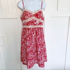 Maurices Red Paisley Print Sun Dress